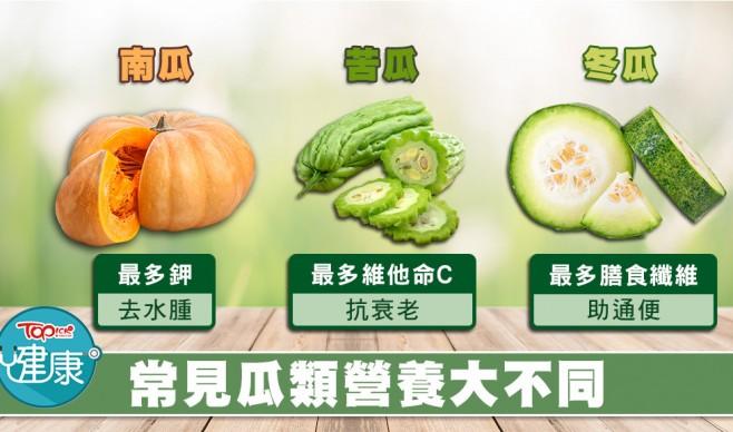 瓜類營養各有不同 營養師推介食南瓜抗氧化去水腫